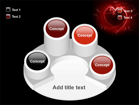 Abstract Heart PowerPoint Template Slide 12