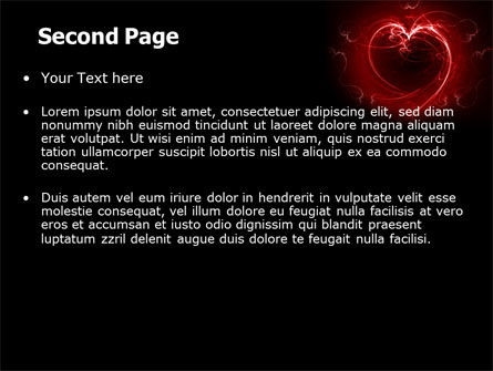 Abstract Heart PowerPoint Template Slide 2