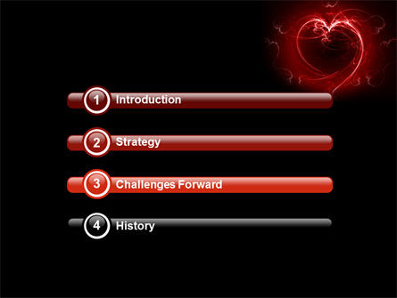Abstract Heart PowerPoint Template Slide 3