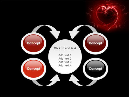 Abstract Heart PowerPoint Template Slide 6