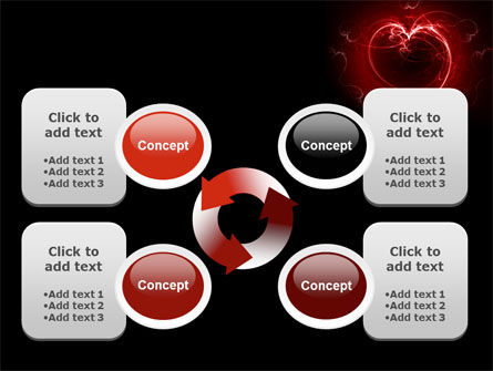 Abstract Heart PowerPoint Template Slide 9