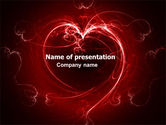 Holiday/Special Occasion: Kort Hart PowerPoint Template #06593