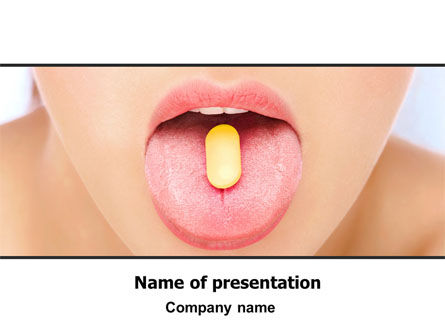 Taking Pills PowerPoint Template, 06594, Medical — PoweredTemplate.com