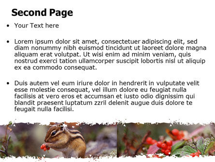 Chipmunk Free PowerPoint Template, Slide 2, 06597, Nature & Environment — PoweredTemplate.com