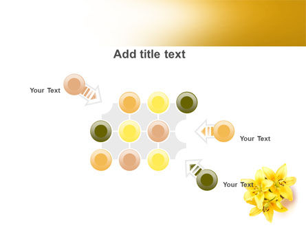 Yellow Lilies PowerPoint Template Slide 10