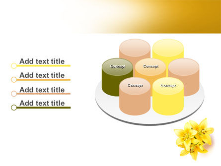 Yellow Lilies PowerPoint Template Slide 12