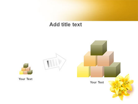 Yellow Lilies PowerPoint Template Slide 13