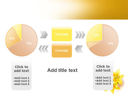 Yellow Lilies PowerPoint Template Slide 16