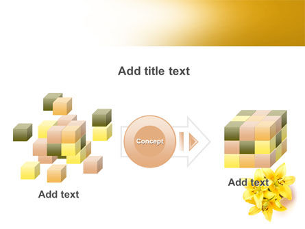 Yellow Lilies PowerPoint Template Slide 17