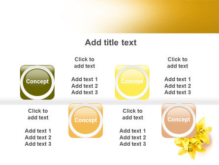 Yellow Lilies PowerPoint Template Slide 18