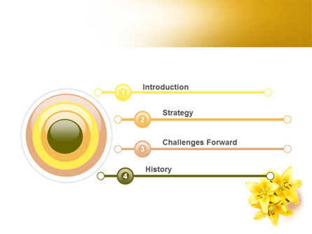 Yellow Lilies PowerPoint Template Slide 3