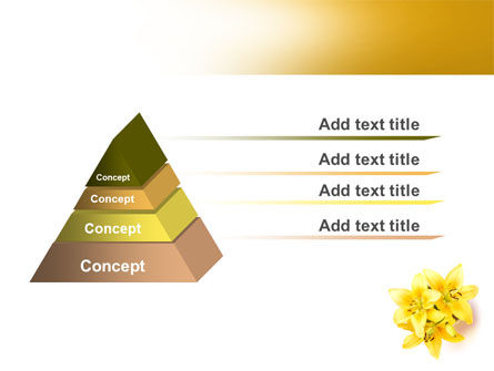 Yellow Lilies PowerPoint Template Slide 4