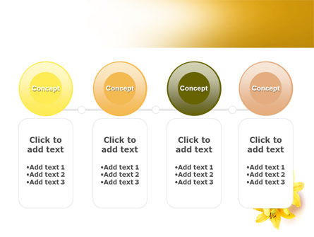 Yellow Lilies PowerPoint Template Slide 5