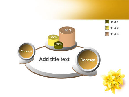 Yellow Lilies PowerPoint Template Slide 6
