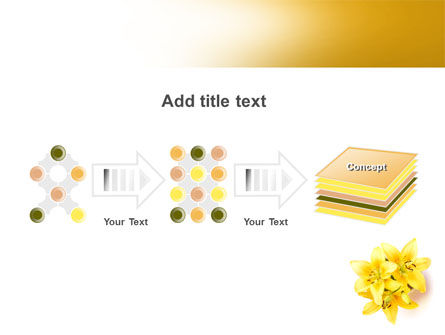 Yellow Lilies PowerPoint Template Slide 9