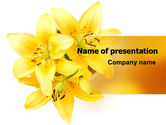 Holiday/Special Occasion: Yellow Lilies PowerPoint Template #06598