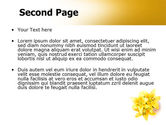 Yellow Lilies PowerPoint Template#2