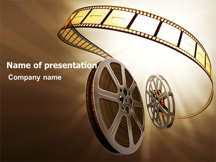 Film Reel In Light Brown Color PowerPoint Template