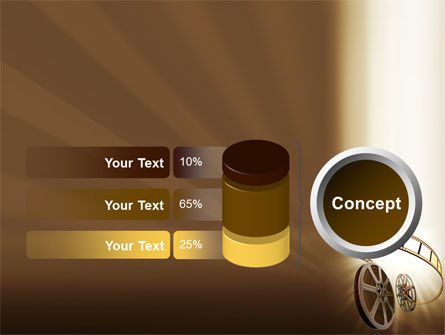 Film Reel In Light Brown Color PowerPoint Template Slide 11