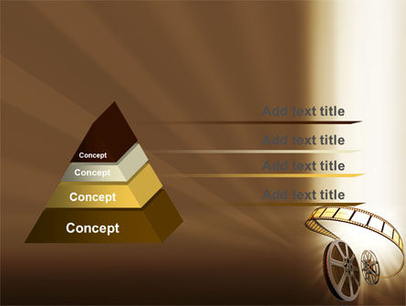 Film Reel In Light Brown Color PowerPoint Template Slide 12