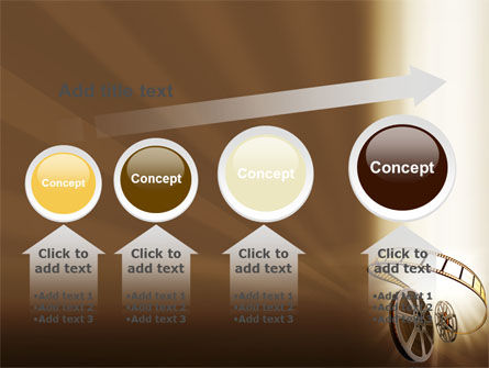 Film Reel In Light Brown Color PowerPoint Template Slide 13