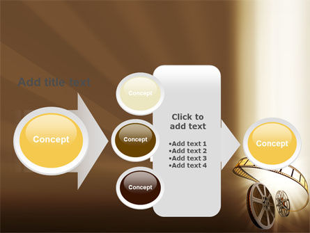 Film Reel In Light Brown Color PowerPoint Template Slide 17
