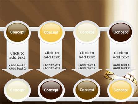 Film Reel In Light Brown Color PowerPoint Template Slide 18