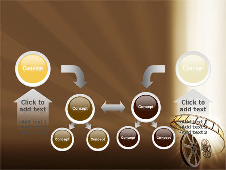 Film Reel In Light Brown Color PowerPoint Template Slide 19