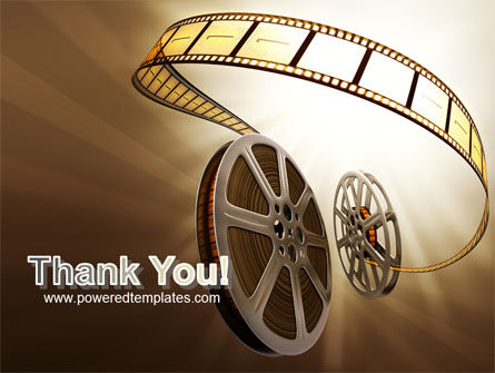 Film Reel In Light Brown Color PowerPoint Template Slide 20