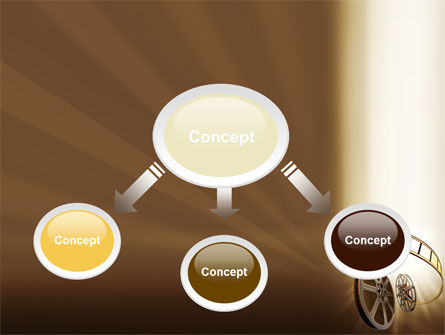 Film Reel In Light Brown Color PowerPoint Template Slide 4