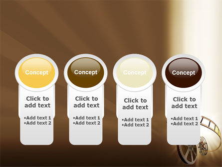 Film Reel In Light Brown Color PowerPoint Template Slide 5
