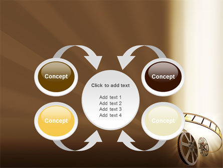 Film Reel In Light Brown Color PowerPoint Template Slide 6