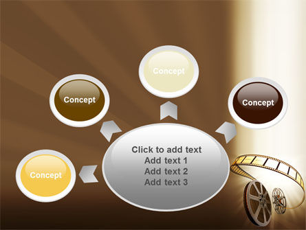 Film Reel In Light Brown Color PowerPoint Template Slide 7