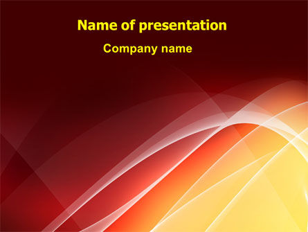 Red Cascading PowerPoint Template