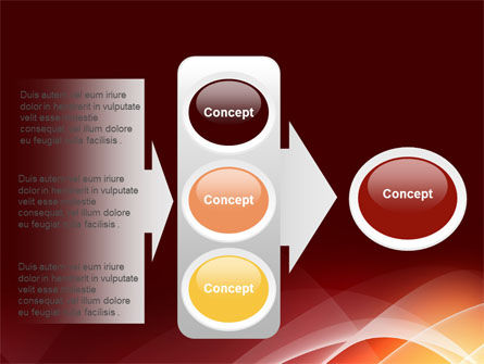 Red Cascading PowerPoint Template Slide 11