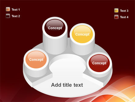 Red Cascading PowerPoint Template Slide 12