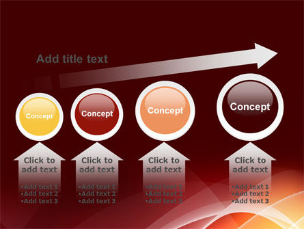 Red Cascading PowerPoint Template Slide 13