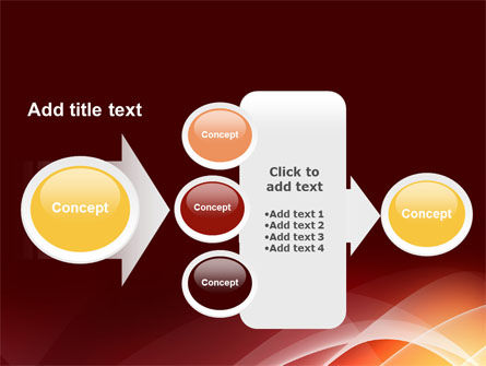 Red Cascading PowerPoint Template Slide 17