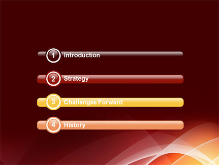 Red Cascading PowerPoint Template Slide 3