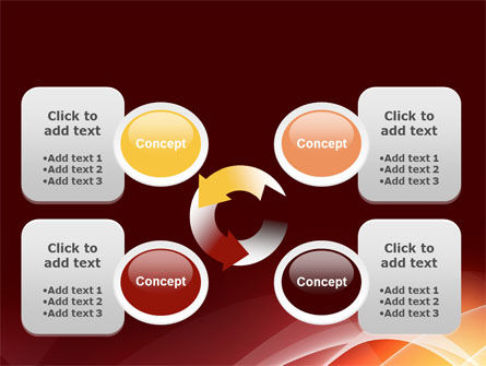 Red Cascading PowerPoint Template Slide 9