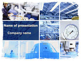 Technology and Science: Industrial Workshop PowerPoint Template #06603