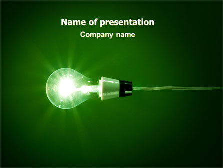 Technology and Science: Green Lamp PowerPoint Template #06604