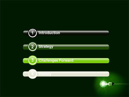 Green Lamp PowerPoint Template, Slide 3, 06604, Technology and Science — PoweredTemplate.com
