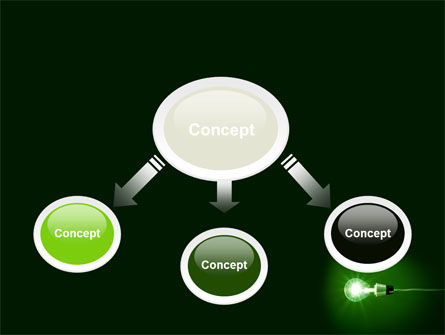 Green Lamp PowerPoint Template, Slide 4, 06604, Technology and Science — PoweredTemplate.com