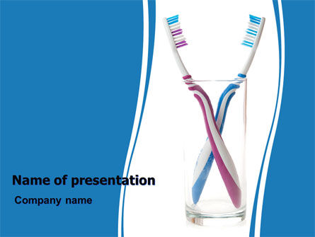 Toothbrushes Free PowerPoint Template, 06605, Medical — PoweredTemplate.com