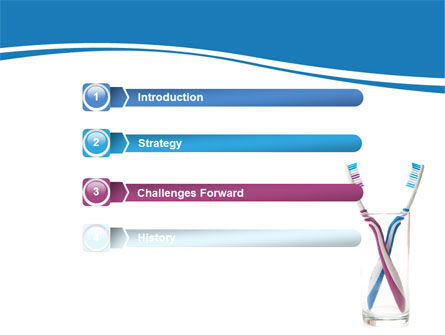 Toothbrushes Free PowerPoint Template, Slide 3, 06605, Medical — PoweredTemplate.com