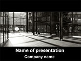 Construction: Lobby Space PowerPoint Template #06606