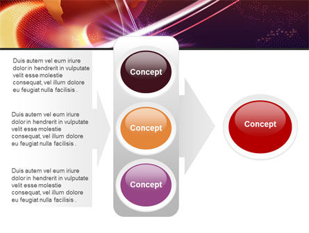 Red Globe In The Ring PowerPoint Template Slide 11