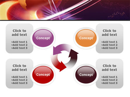 Red Globe In The Ring PowerPoint Template Slide 9
