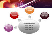 Red Globe In The Ring PowerPoint Template#7